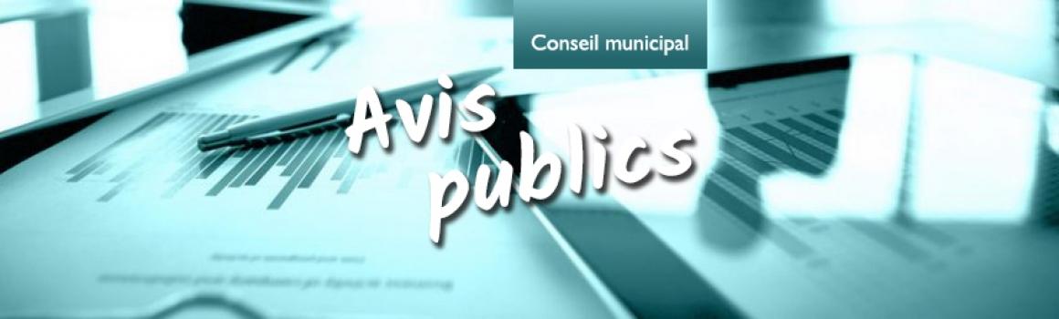 Avis public procédure d'enregistrement règlement no 456-18